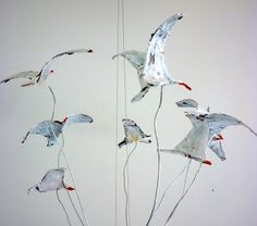 sixty one A - decoupage birds on wires