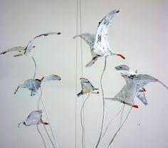 sixty one A - decoupage birds on wires