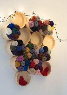 beautiful yarn display (Ysolda)