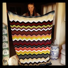 Missoni inspired blanket