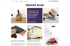 Square Blog Responsive Theme by Dessign on Creative Market