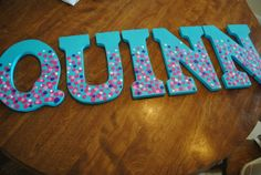custom order handpainted wooden letters by littlelovesqanda