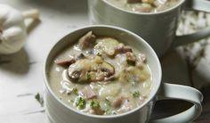 Bacon, leek & mushroom chowder