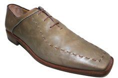 Antonio Maurizi Mens Olive Leather Shoes Size 45 US 12 #AntonioMaurizi #Oxfords