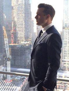 Gabriel Macht aka Harvey Specter filming the commercial for Ballantines in NYC #HarveySpecter  #GabrielMacht