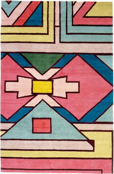 rug by matthew williamson, inspired by south african ndebele patterns