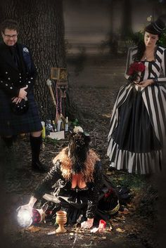 New Orleans voodoo handfasting (and another AMAZING dress)