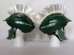 """MSU College of Human Medicine helmets for """"Gran Fondo"""" bicycling event-serving as a fundraiser for skin cancer research created by Extra Credit Projects."""