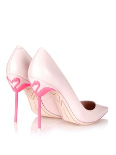 Flamingo Pumps Sophia Webster Coco flamingo-heel leather pumps