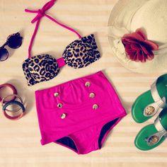 Retro bathing suit