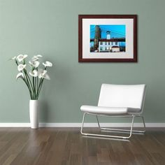 Trademark Fine Art Brooklyn 1 inch Canvas Art by CATeyes, White Matte, Wood Frame, Size: 11 x 14, Brown