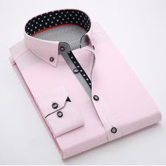 Fashion Solid Slim Long Sleeved Cotton Business Shirts 👍 Refund & Keep item if you are not happy with the product! Black Women Fashion, Mens Fashion, Style Fashion, Cute Love Images, Business Shirts, Shirt Price, Collar Shirts, Types Of Shirts, African Fashion