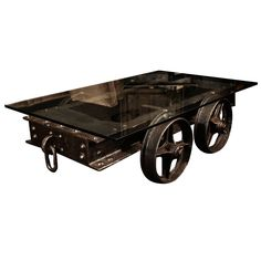 Table created from reclaimed mine railroad