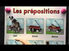 Song about prepositions in French French Verbs, French Grammar, French Teaching Resources, Teaching French, French Prepositions, French Poems, French For Beginners, French Kids, French Classroom