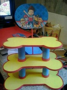 paw patrol cake stand