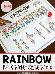 Rainbow Write - Roll and Write Sight Words from Reading the Alphabet