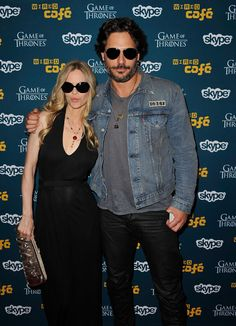 Kristin Bauer and Joe Manganiello Attend WIRED Cafe at Comic-Con, July 14, 2012