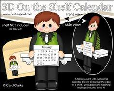 3D On The Shelf Everlasting Calendar Kit - Little Irish Dancer Conor