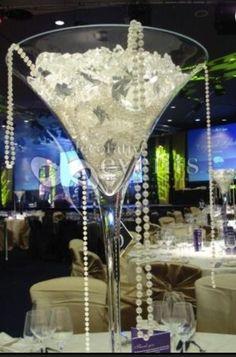 Diamonds and pearls theme minus the giant martini glass  @Shela Carpenter Johnson  @Olivia García Green