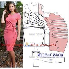 "menjaHIT itu ngeHITS on Instagram: ""#Pola @menjahits   Pinky Dress #HappySewing Semoga bermanfaat, Selamat #menjahit #sewingpattern #idea #love #sewing #pattern #fashion…"""