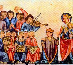 medieval fiidle scene | Medieval Instruments V: Fiddles