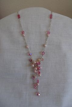 Swarofsky crystal and fresh water pearl necklace