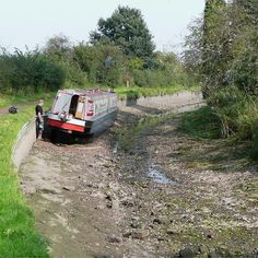This is what can happen when someone doesn't operate a lock properly. The whole pound drains. Canal Barge, Canal Boat, England And Scotland, England Uk, Barge Holidays, Dutch Barge, Narrowboat, Water Tower, Abandoned Places