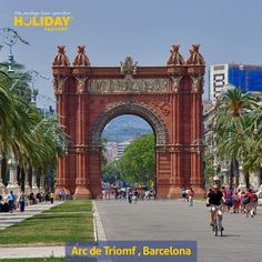 The Arc de Triomf . It was built as the main access gate for the 1888 #Barcelona World Fair by architect Josep Vilaseca i Casanovas. The arch is built in reddish brickwork in the Neo-Mudéjar style.