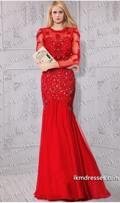 http://www.ikmdresses.com/Sassy-beaded-lace-appliques-open-back-long-sleeves-mermaid-dress-p59445