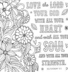 Coloring Pages For Teenagers, Printable Adult Coloring Pages, Bible Verse Coloring Page, Coloring Book Pages, Coloring Sheets, Coloring Pages Inspirational, To Color, Bible Verses, Bible Art