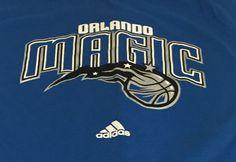 Orlando Magic Adidas Blue Medium Short Sleeve Tee T-Shirt A1 #adidas #OrlandoMagic