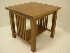 Mission Oak Arts & Crafts Stickley style End Table. $299.00, via Etsy.