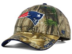 NFL New England Patriots  47 Brand MVP Camo Realtree Frost Adjustable Hat  Cap  47Brand 246d33529