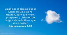 Sigan por el camino que el Señor su Dios les ha trazado, para que vivan, prosperen y disfruten de larga vida en la tierra que van a poseer.
