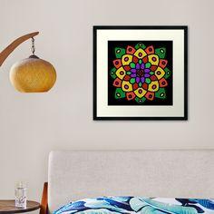 """""""Flower of Life Mandala"""" Framed Art Print by Pultzar   Redbubble"""