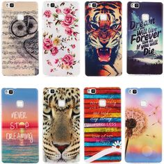 For Huawei P 9 Lite Case Cartoon Soft Silicone TPU Gel Back Cover Phone Case for Huawei Ascend P9 Lite  Huawei G9 5.2 10 Color