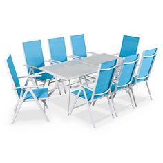 ROMANTIQUE Salon de jardin table ronde Ø100cm 4 places granit ...