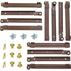 So glad someone pinned this kit. Repin: Barrister's Bookcase Hardware Kit