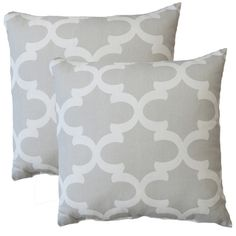 Premiere Home Fynn Frech Grey 17-inch Throw Pillow - Set of 2 - Overstock™ Shopping - Great Deals on NA Throw Pillows