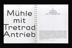 Alte Mediäval revival, type design project at ECAL on Behance