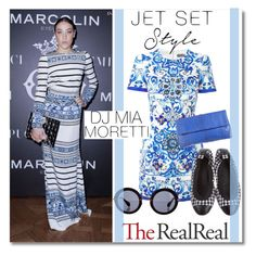 """Jet Set Style With DJ Mia Moretti & The RealReal: Contest Entry"" by fattie-zara ❤ liked on Polyvore featuring Dolce&Gabbana, Chanel, Miu Miu and Hunting Season"