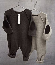 Baby One-Piece with Elbow Patches