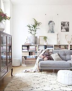bright and airy nordic style living room