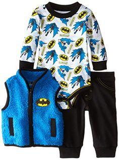 Warner Brothers Baby Baby-Boys Newborn Batman 3 Piece Set with Sherpa Vest, Blue, 0-3 Months Warner Brothers Baby http://www.amazon.com/dp/B00XYDYWI6/ref=cm_sw_r_pi_dp_6kebwb13QPRAY