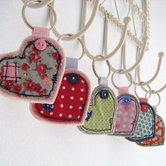 Porta-chaves corações