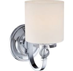 """View the Quoizel DW8701 Downtown 1 Light 11"""" Tall Wall Sconce with Glass Cylinder Shade at LightingDirect.com."""