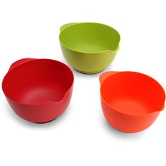 This Farberware Mixing Bowl Set is ideal for your kitchen. Whether preparing cakes, eggs or entrees, these mixing bowls are sure to come in handy. They also add a vibrant splash of color to your kitchen. Each set of 3 mixing bowls has a convenient spout that makes pouring ingredients a breeze and a non-slip base that ensures extra stability. They are conveniently dishwasher safe, top rack only. They are made of sturdy and durable quality for long * You can get more details by clicking on…