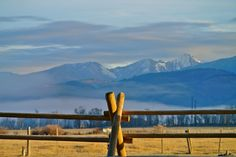 Morning Mountains in the Mist ..Afton, Wyoming