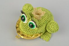 Handmade crocheted purse in the form of princess by KengarooStore