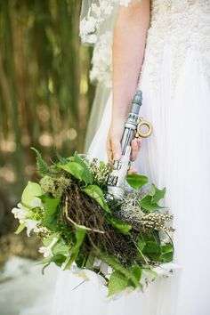 Hand carved River Song inspired Sonic Screwdriver bouquet